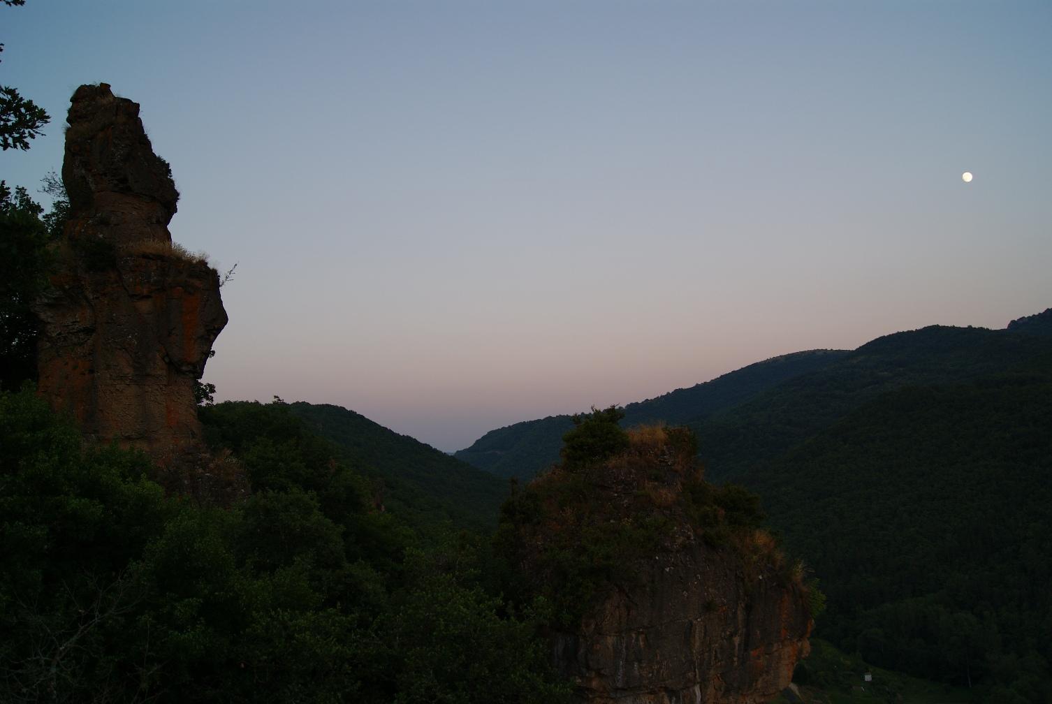 Le Larzac vu depuis le village